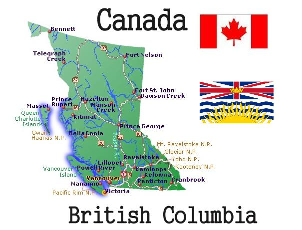 british columbia map The non conformer 39 s Canadian Weblog