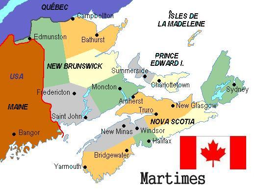 Maritimes Map The Non Conformer S Canadian Weblog