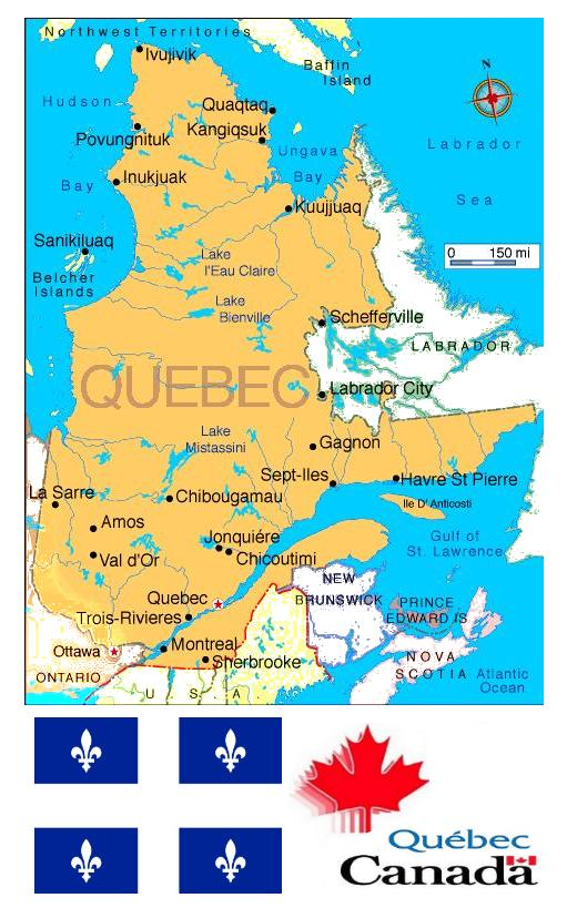 Quebecmap The Non Conformers Canadian Weblog - Map of quebec canada