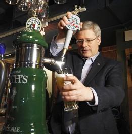 pm stephen harper beer 4