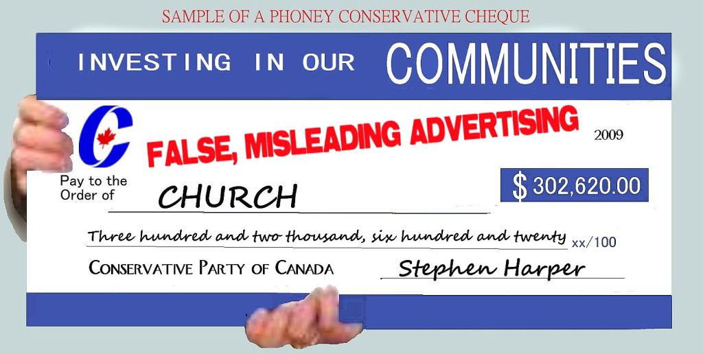 CONSERVATIVE PARTY OF CANADA cheque