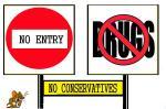 NO CONSERVATIVES  (5)
