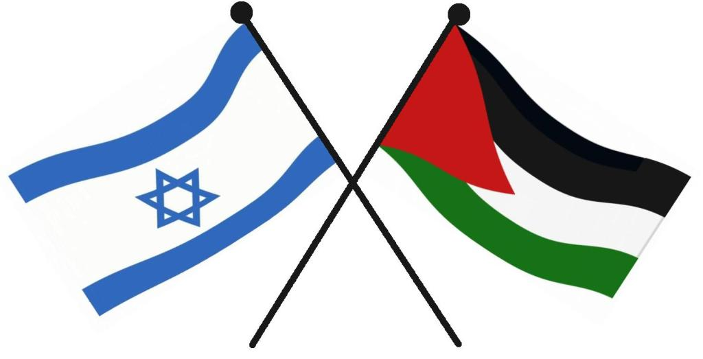 Israel,Palestine.flags