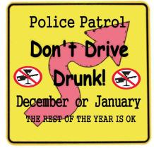 NO DRUNK DRIVING